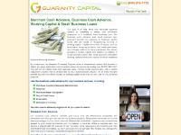 guarantycapital.com merchant cash advanced, business cash advanced, small business loans