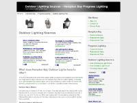 Outdoor Lighting Sources - Hampton Bay Progress Lighting