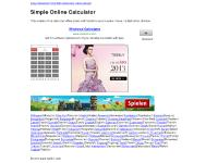 Simple Online Calculator