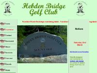 Welcome to the Hebden Bridge Golf Club website