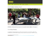 Sculptural Concrete Outdoor Table Tennis Platforms - HENGE Inc.