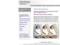 Heritage Photographs, specializing in photo restoration services; torn photo repair, faded photo enhancement