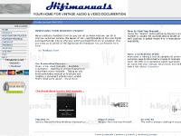 Hifimanuals.com - Your Home For Vintage Audio Manuals
