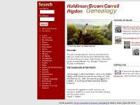 holdimanancestors.com Our Family Genealogy Pages