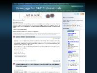 Homepage for SAP Professionals