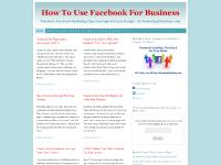 Facebook Consulting, Training, Marketing Tips & Fan Page Set Up