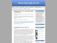 Dying mans daily journal | daily journal of a dying man