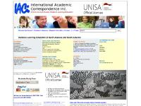 IACI offers UNISA university distance learning courses up to Doctoral