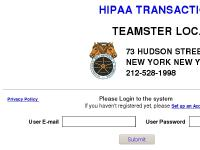 HIPAA Website Transactions Processing Center