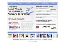 igroops.com social website, social websites, membership site