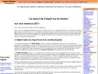 impotrevenu.com logiciel de calcul de l'impot sur le revenu, impots, 2011