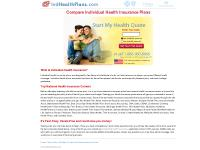 Individual Health Insurance Plans | Free Quotes - IndHealthPlans.com