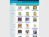 ineedlework.com Needlework Corner, Rabbits! crewel kit, Jacobean Fantasy