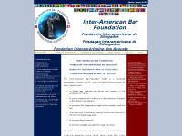 interamericanbarfoundation.org Inter American Bar Foundation, IABF, Inter-American Bar Foundation