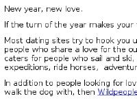 Wildpeople - dating and relationship site for outdoor people. Meet people into