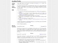 Jonathan Parkin - Curriculum Vitae
