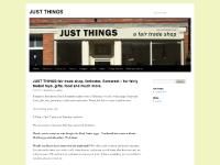JUST THINGS | a fair trade shop