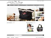 justformesewing.com Personalized Tote Bags, Personalized Children's Clothes, Personalized Bridesmaid Gifts