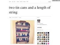 two tin cans and a length of string