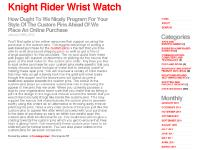 knightriderwristwatch.info [qui], Los angeles plastic surgery, t shirt printing