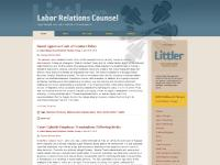 Labor Relations Counsel : Labor Management Relations Lawyers & Attorneys: Littler Law Firm