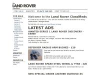 landroverads.co.uk For sale, Wanted, For sale