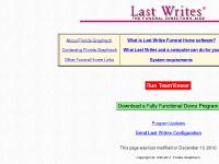 Last Writes Funeral Home Software
