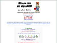 Como hacer páginas WEB por Sergio Cabrera