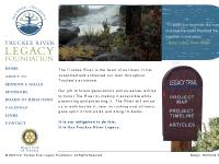 Truckee River Legacy Calender, Truckee Links, Project Timeline, Articles