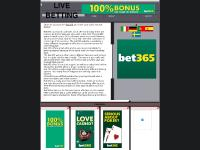 Live betting with bet365