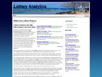 lotteryanalytics.com lottery, lotteries, winning numbers