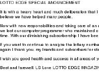 Lotto Edge Magazine. - Number 1 Lotto Magazine