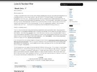 Love & Nuclear War
