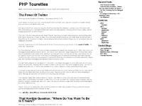 PHP Tourettes