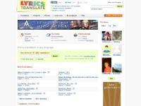lyricstranslate.com 63,667 lyrics translations, in 63 languages