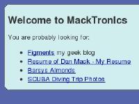 MackTronIcs Home Page