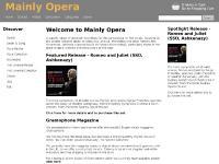 Mainly Opera
