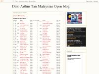 Dato Arthur Tan Malaysian Open blog