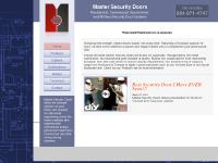 mastersecuritydoors.com Products, Options, Certifications