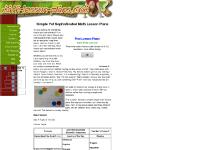 math-lesson-plans.com Math lesson plans,basic math,elementary math