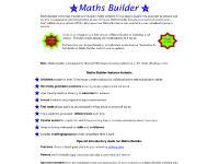 Maths Builder