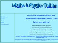 Sheffield Maths and Physics Tutor - Home