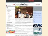 Menas Associates: Menas Reports Focus monthly reports Libya Focus