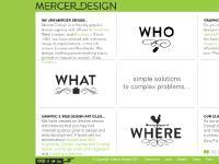 merceronline.co.uk graphic design, web design, identity design
