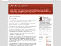 MISTURA DE LETRAS
