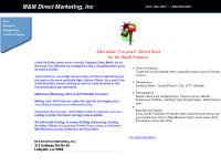 mmdirectmarketing.com Mailing Lists, Mailing Services, New Movers Program