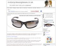 Designer padded motorbike and motorcycle sunglasses with high impact resistance