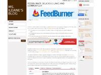 msileanesblog.blogspot.com adding FeedFlare to FeedBurner, CommentLuv, Delicious