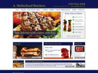 mulhollandbutchers.co.uk recipes, outside catering menus, retailers