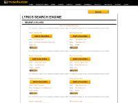 musicbuzzer.com lyrics search engine, artist lyrics, song lyrics
